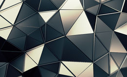 Abstract 3D Rendering of Polygonal Background. Abstract 3d rendering of triangulated surface. Contemporary background. Futuristic polygonal shape. Distorted low royalty free illustration