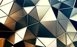 Abstract 3D Rendering of Polygonal Background. Royalty Free Stock Images