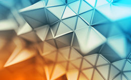 Abstract 3D Rendering of Polygonal Background. Royalty Free Stock Image