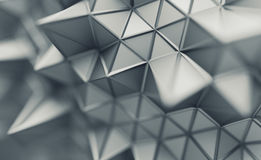 Abstract 3D Rendering of Polygonal Background. Abstract 3d rendering of triangulated surface. Contemporary background. Futuristic polygonal shape. Distorted low vector illustration