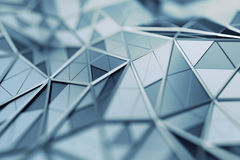 Abstract 3D Rendering of Polygonal Background. Abstract 3d rendering of triangulated surface. Contemporary background. Futuristic polygonal shape. Distorted low stock illustration