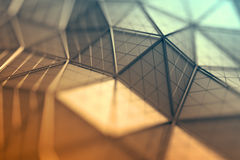 Abstract 3D Rendering of Polygonal Background. Stock Photos