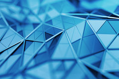 Abstract 3D Rendering of Polygonal Background. Abstract 3d rendering of triangulated surface. Contemporary background. Futuristic polygonal shape. Distorted low Stock Photography