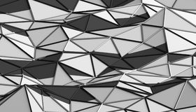 Abstract 3D Rendering of Polygonal Background. Abstract 3d rendering of triangulated surface. Modern background. Futuristic polygonal shape. Low poly Royalty Free Stock Photo