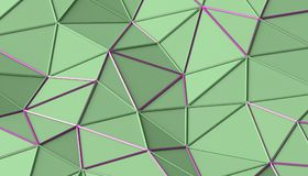 Abstract 3D Rendering of Polygonal Background. Abstract 3d rendering of triangulated surface. Modern background. Futuristic polygonal shape. Low poly Royalty Free Stock Image