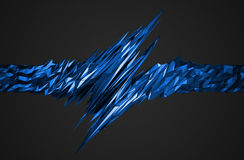 Abstract 3D Rendering of Polygonal Shape. Royalty Free Stock Photography