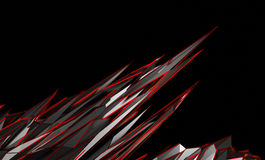 Abstract 3D Rendering of Polygonal Shape. Royalty Free Stock Image