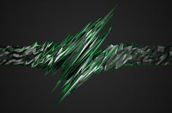 Abstract 3D Rendering of Polygonal Shape. Royalty Free Stock Photos