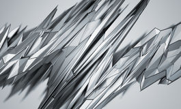 Abstract 3D Rendering of Polygonal Shape. Royalty Free Stock Images