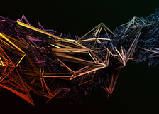 Abstract 3D Rendering of Polygonal Shape. Stock Image