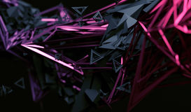 Abstract 3D Rendering of Polygonal Shape. Royalty Free Stock Photo