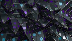 Abstract 3D Rendering of the Polygonal Surface. Abstract 3d rendering of geometric surface. Modern polygonal background design for poster, cover, branding Royalty Free Stock Photography
