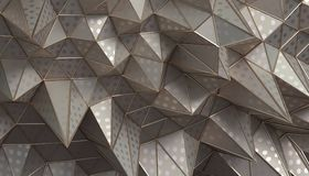 Abstract 3D Rendering of the Polygonal Surface. Abstract 3d rendering of geometric surface. Modern polygonal background design for poster, cover, branding Royalty Free Stock Images
