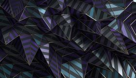 Abstract 3D Rendering of the Polygonal Surface. Abstract 3d rendering of geometric surface. Modern polygonal background design for poster, cover, branding Stock Images