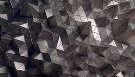 Abstract 3D Rendering of the Polygonal Surface. Abstract 3d rendering of geometric surface. Modern polygonal background design for poster, cover, branding Stock Image