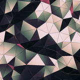 Abstract 3D Rendering of Polygonal Surface. Background with futuristic low poly wall Royalty Free Stock Photography