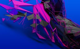 Abstract 3D Rendering of Random Shapes royalty free illustration