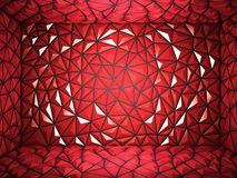 Abstract 3d rendering of red surface Background  Royalty Free Stock Photo