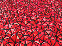 Abstract 3d rendering of red surface Background with futuristic. Polygonal Royalty Free Stock Photos