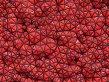 Abstract 3d rendering of red surface Background with futuristic. Polygonal Stock Photo