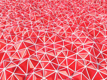 Abstract 3d rendering of red surface Background with futuristic. Polygonal shape Stock Photo