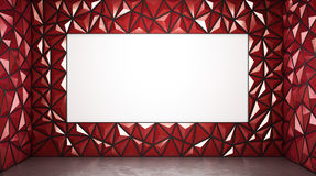 Abstract 3d rendering of red surface Background. With space Stock Photos
