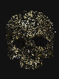 Abstract 3d rendering of skull with yellow color circles Stock Images