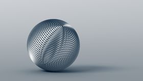 Abstract 3D Rendering of the Sphere. Abstract 3d rendering of geometric shape. Minimalistic composition. Modern background design with sphere for poster, cover stock illustration