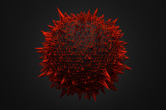 Abstract 3d rendering of sphere with chaotic Royalty Free Stock Photo