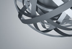 Abstract 3D Rendering of Sphere with Rings. Stock Images