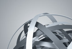 Abstract 3D Rendering of Sphere with Rings. Stock Image