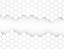 Abstract 3d rendering structure with hexagons Stock Photos