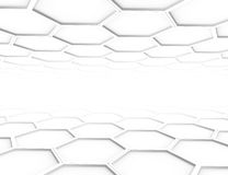Abstract 3d rendering structure with hexagons Stock Photography