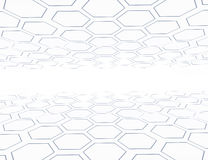 Abstract 3d rendering structure with hexagons.  Stock Photo