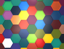 Abstract 3d rendering structure with hexagons.  Royalty Free Stock Photography
