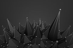 Abstract 3D Rendering of Structure with Spheres Royalty Free Stock Photography
