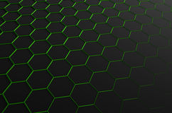 Abstract 3D Rendering of Surface with Hexagons. Abstract 3d rendering of futuristic surface with hexagons. Sci-fi background Royalty Free Stock Image