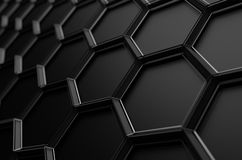 Abstract 3D Rendering of Surface with Hexagons Royalty Free Stock Photo