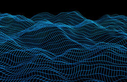 Abstract 3D Rendering of Surface with Waves Stock Photography