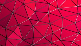Abstract 3D Rendering of Polygonal Background. Abstract 3d rendering of triangulated surface. Modern background. Futuristic polygonal shape. Low poly Royalty Free Stock Images