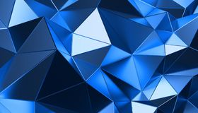 Abstract 3D Rendering of Polygonal Background. Abstract 3d rendering of triangulated surface. Modern background. Futuristic polygonal shape. Low poly stock illustration