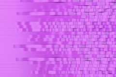 Abstract 3D rendering of violet sine waves Stock Photo