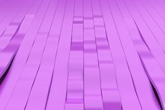 Abstract 3D rendering of violet sine waves Royalty Free Stock Photography