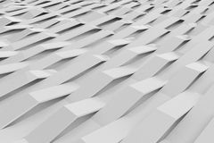 Abstract 3D rendering of white gloss plastic waves Royalty Free Stock Image