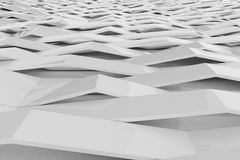 Abstract 3D rendering of white gloss plastic waves Royalty Free Stock Photography