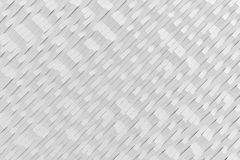 Abstract 3D rendering of white matte plastic waves. Bended stripes background. Reflective surface pattern. 3D render illustration royalty free illustration