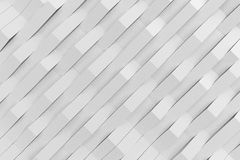 Abstract 3D rendering of white matte plastic waves Stock Image