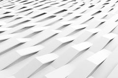 Abstract 3D rendering of white matte plastic waves Royalty Free Stock Images