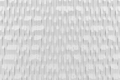 Abstract 3D rendering of white matte plastic waves Stock Photos