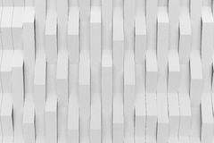 Abstract 3D rendering of white matte plastic waves Royalty Free Stock Photos